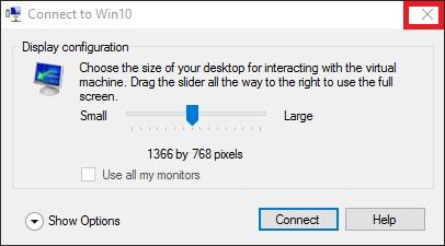 вход в ВМ Windows без пароля при использовании hyper-v enchanhed session mode