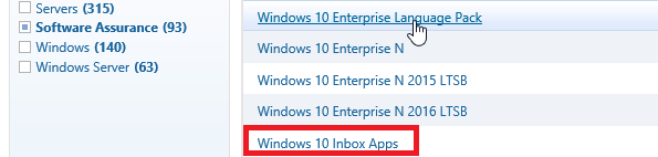 Windows 10 Inbox Apps iso образ с appx приложениями