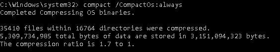 compact /CompactOs:always