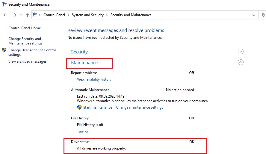 windows 10 статус заданий обслживания жесткого диска