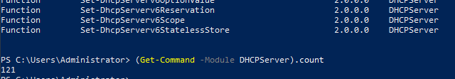 PowerShell модуль DHCPServer
