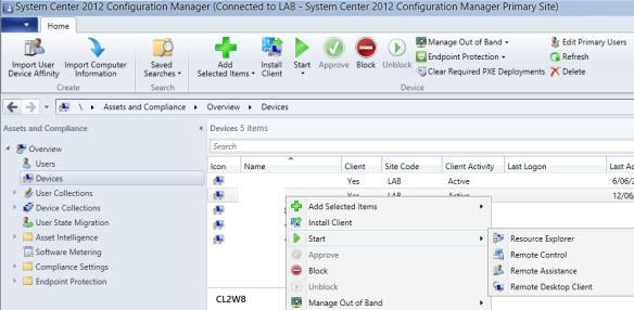 SCCM - подключиться к пользователю