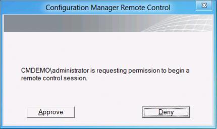 Пользователь должен одобрить удаленое подключение к своему экрану