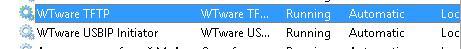 Службы WTWare в системе