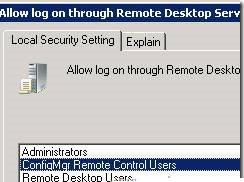 политику  Allow log on through Remote Desktop Services