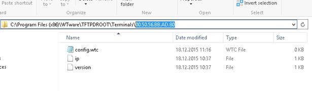 Файл с персональной конфигурацией клиента config.wtc