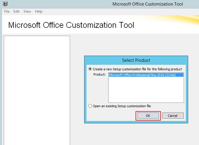 MS Office 2016 Customization Tool