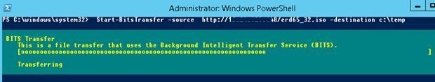 Start-BitsTransfer - загрузка файла по протоколу BITS