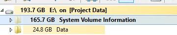 большой размер каталога system volume information в windows