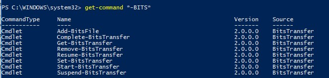 powershell get command модуль BITS