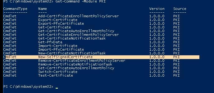 Powershell модуль PKI