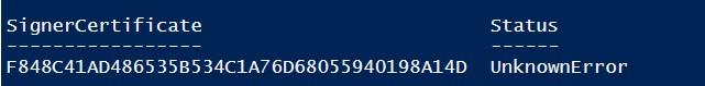 Ошибка UnknownError при подписывании PowerShell скрипта самоподписанным сертификатом