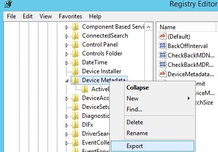 экспорт настроек реестра в reg файл