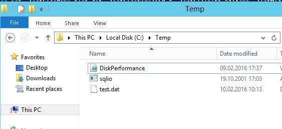 Скрипт DiskPerformance и утилита sqlio.exe