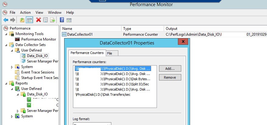 physicaldisk - добавить счетчики производительности для физического диска