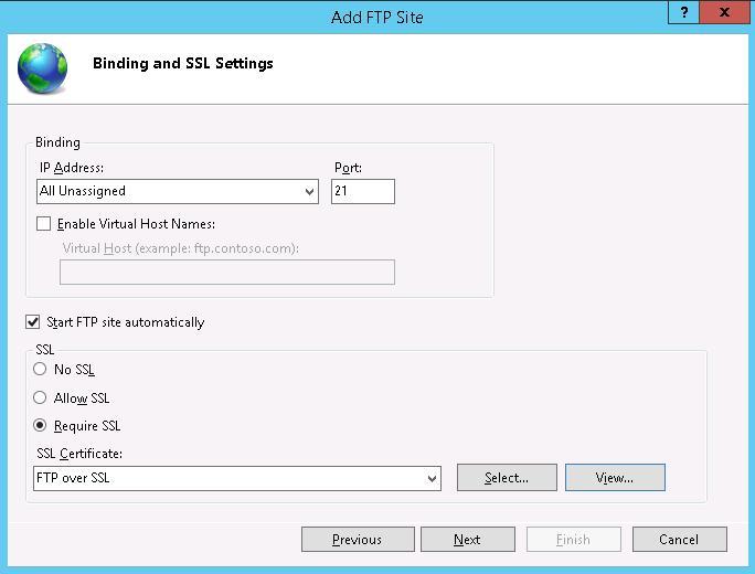 Выбор SSL сертфиката для FTP