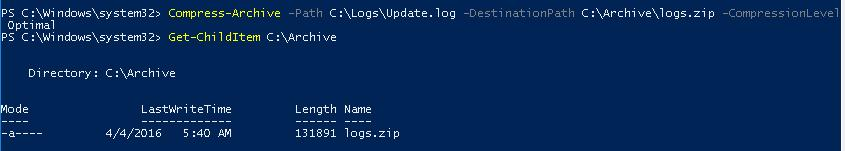 Compress-Archive PowerShell