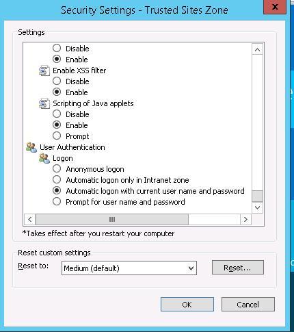 IE 11 Автоматический вход с текщим именем пользователя и паролем