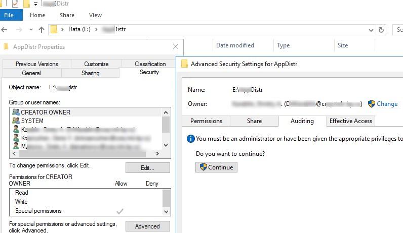 настройка аудита доступа к сетевой папке в windows