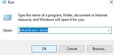 сброс кэша иконок windows 10 с помощью втсроенной утилиты ie4uinit.exe