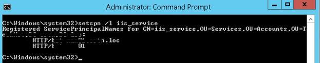 setspn /l iis_service