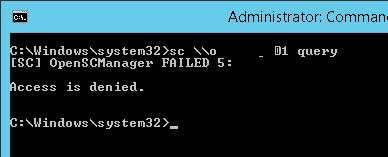 [SC] OpenSCManager FAILED 5: Access is denied.