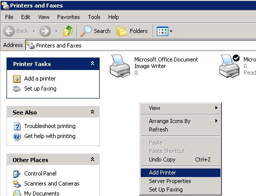 Установить новый принтер