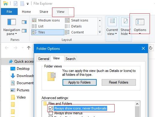 windows 10 не показывать эскизы изображений
