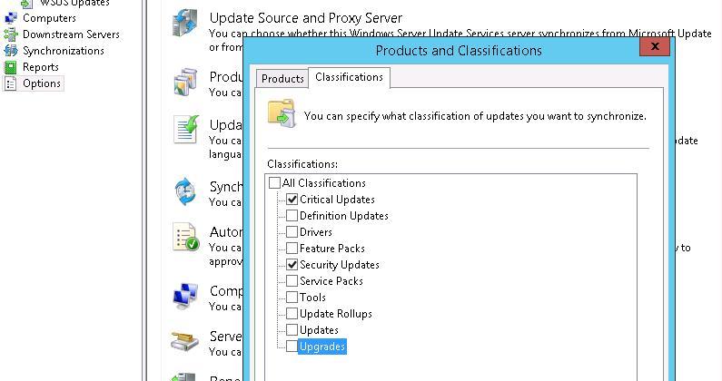 WSUS: Windows 10  upgrades