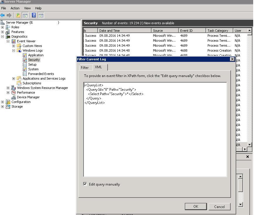 Ручная правка XML фильтра