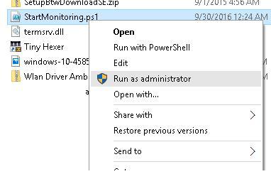 PowerShell скрипт ps1 - RunAsAdministrator