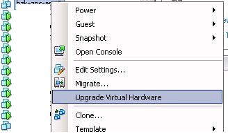 Upgrade Virtual Hardware