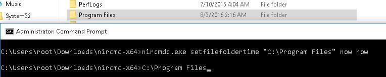 NirCMD - change folder creation time