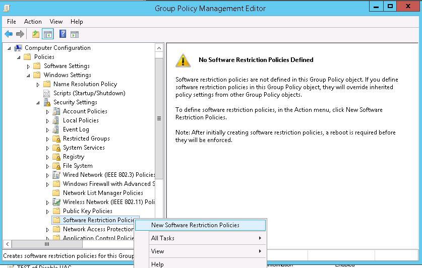 Настройка Software Restriction Policies с помощью GPO
