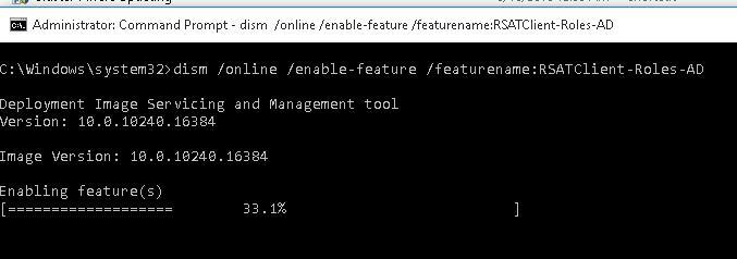 dism /online /enable-feature /featurename:RSATClient-Roles-AD