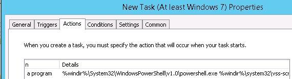 task scheduler запуск PoSh скрипта