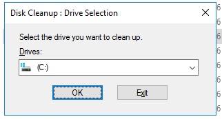 выберите диск для очистки