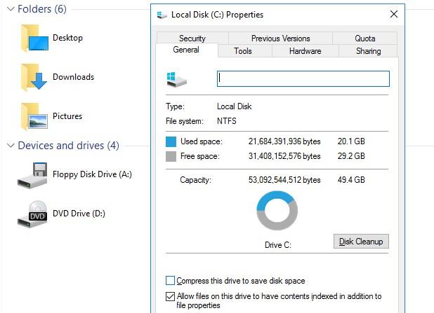 Утилита очистки диска disk cleanup в windows server