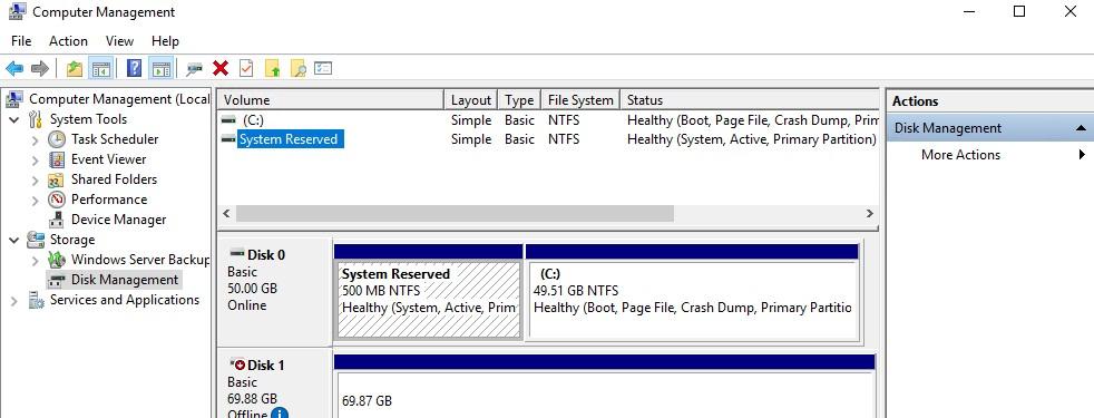 скрыты раздел зерезервировано системой в windows10