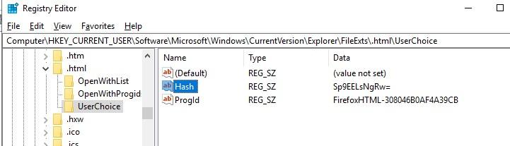 FileExts UserChoice настройка ассоциаций файлов в реестра windows 10