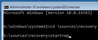 командная строка в режиме восстановления windows recovery