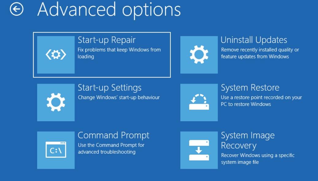 инструменты среды восстановления windows recovery environment