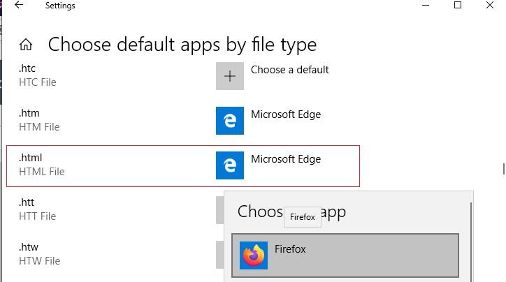 изменить программу для открытия файла в windows 10