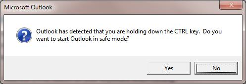 Запуск Outlook  в безопасном режиме