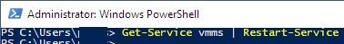 перезапустить службу vm management service hyper v