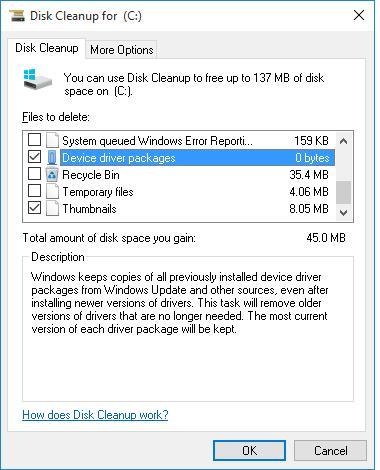 Удаление старых пакетов драйверов в Windows 10