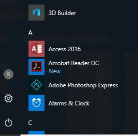 acrobat- eader dc в windows 10