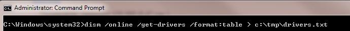 Выгрузка списка дрйверов в системе с помощью dism /online /get-drivers