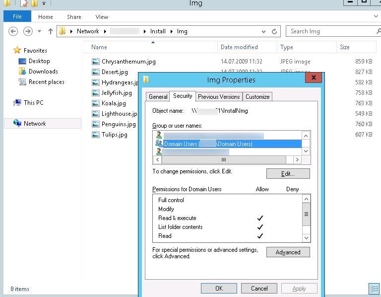 Сетевой каталог с изображениями для скринсейвера