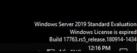 просрочилась лицензия windows server evaluation, черный экран, сервер перезагружается каждый час